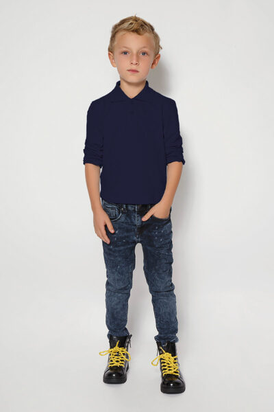 Polo krekls ar garām piedurknēm un LOGO